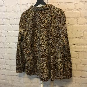 Chaps Tops - Leopard Button Down